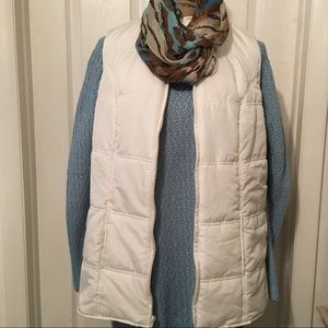 🌟EUC Woman Within Ivory Puffer Vest Size: 1X